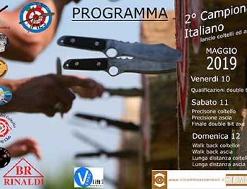 Colombo ascensori è tra gli sponsor ufficiali del 2° campionato Italiano di lancio di coltelli e asce